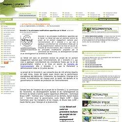 Grenelle 2, les principales modifications apportées par le Sén