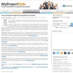 Les principales règles de la gestion de projets