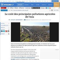 Environnement : Le coût des principales pollutions agricoles de l'eau
