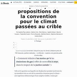 Les principales propositions de la convention pour le climat passées au crible