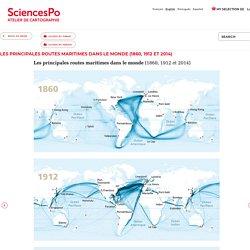 Les principales routes maritimes dans le monde (1860, 1912 et 2014)