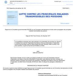 1977 - LUTTE CONTRE LES PRINCIPALES MALADIES TRANSMISSIBLES DES POISSONS
