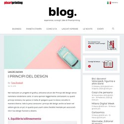 I principi del design: i principali da tenere a mente