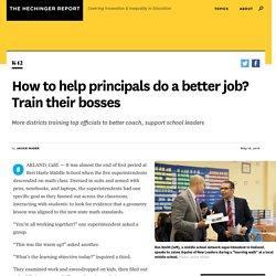 How to help principals do a better job? Train their bosses