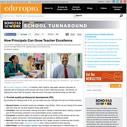 How Principals Can Grow Teacher Excellence
