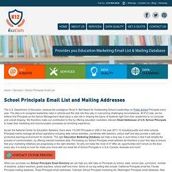 List of School Principals, Email Marketing Addresses, Mailing Database
