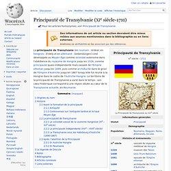 Principauté de Transylvanie (XIe siècle-1711)