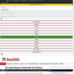 Les principaux attentats en France depuis 2012