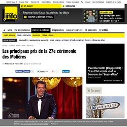 France info : Les principaux prix de la 27e cérémonie des Molières