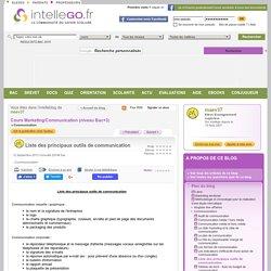 Liste des principaux outils de communication - Intellego.fr