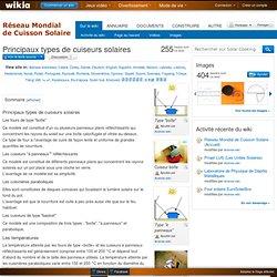 Principaux types de cuiseurs solaires - Solar Cooking