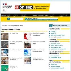 Principaux domaines d'études - Onisep