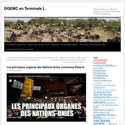 Les principaux organes des Nations-Unies Jurismana Dataviz