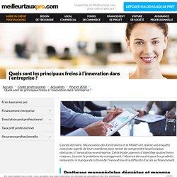 Quels sont les principaux freins à l'innovation dans l'entreprise ? - Meilleurtauxpro.com