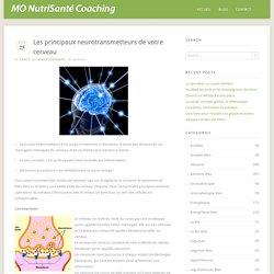 Les principaux neurotransmetteurs de votre cerveau @ MO NutriSanté Coaching