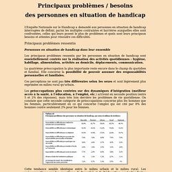 Principaux problèmes