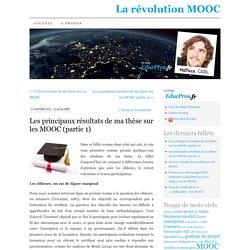 Les principaux résultats de ma thèse sur les MOOC (partie 1)
