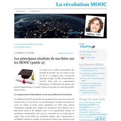 Les principaux résultats de ma thèse sur les MOOC (partie 2)