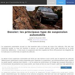 Dossier: les principaux type de suspension automobile