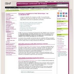 Principaux standards du Web Sémantique : les vocabulaires RDF