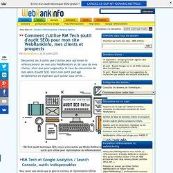 Les 3 principaux outils SEO utilisés par WebRankInfo