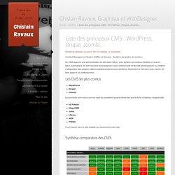 Liste des principaux CMS : Wordpress, Drupal, Joomla... - Ghislain Ravaux, graphiste