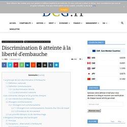 Le principe de non-discrimination à l'embauche