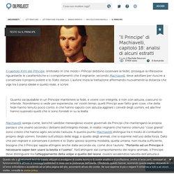 Il principe machiavellico e l'astuzia