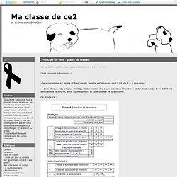 Ma classe de ce2 (3e année)