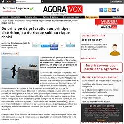 AGORAVOX 06/07/10 Du principe de précaution au principe d'attrition, ou du risque subi au risque choisi