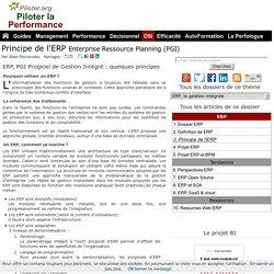 Principe de l'ERP PGI Progiciel de Gestion Integre