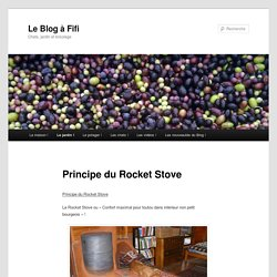 Principe du Rocket Stove. simple