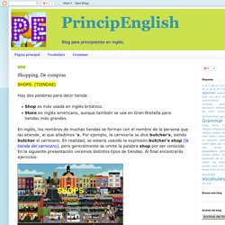 PrincipEnglish: Shopping. De compras
