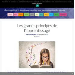 Les grands principes de l'apprentissage