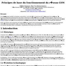 Principes de base du fonctionnement du r�seau GSM