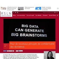 Pour de nouveaux principes de confidentialité des données