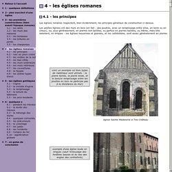 Les principes de construction des églises romanes et gothiques