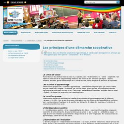Les principes d'une démarche coopérative