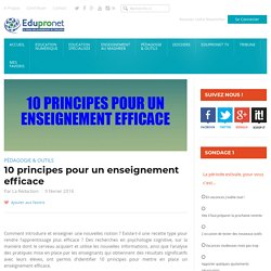 10 principes pour un enseignement efficace