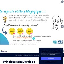 Principes capsule vidéo by florence.jaille on Genially