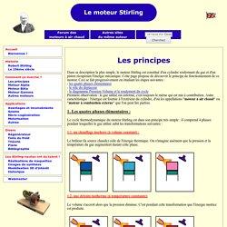 Principes de fonctionnement du moteur Stirling