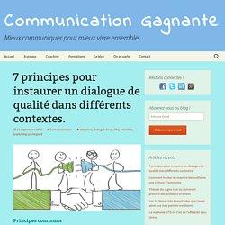 7 principes pour instaurer un dialogue de qualité dans différents contextes.