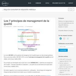 Les 7 principes de management de la qualité
