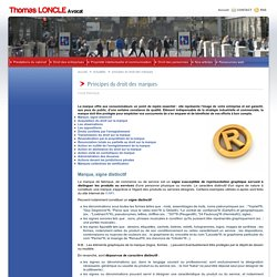 Principes du droit des marques - THOMAS LONCLE AVOCAT