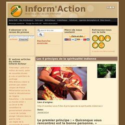 Les 4 principes de la spiritualité indienne