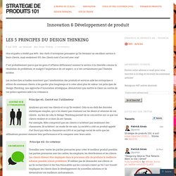 Les 5 principes du Design Thinking
