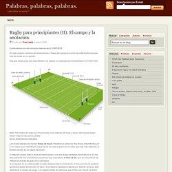 Rugby para principiantes (II). El campo y la anotación.