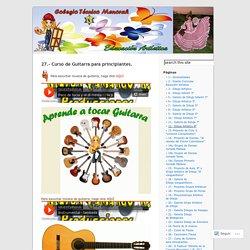 27.- Curso de Guitarra para principiantes.
