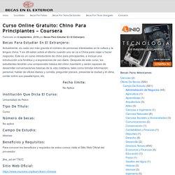 Curso Online Gratuito: Chino Para Principiantes – Coursera | Becas Para Mexicanos