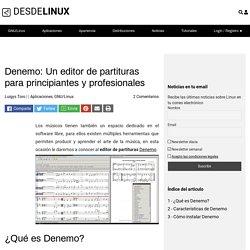 Denemo: Un editor de partituras para principiantes y profesionales